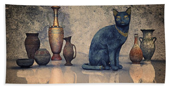 Bastet And Pottery Hand Towel