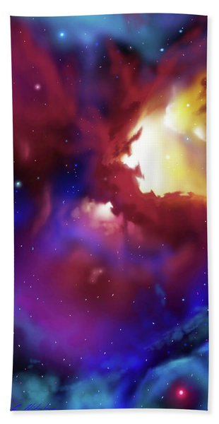 Bat Nebula Hand Towel