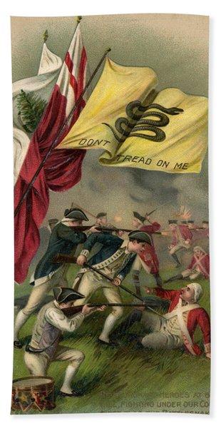 Battle Of Bunker Hill With Gadsden Flag Bath Towel