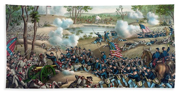 Battle Of Cold Harbor Hand Towel