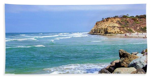 Beach At Del Mar, California Hand Towel