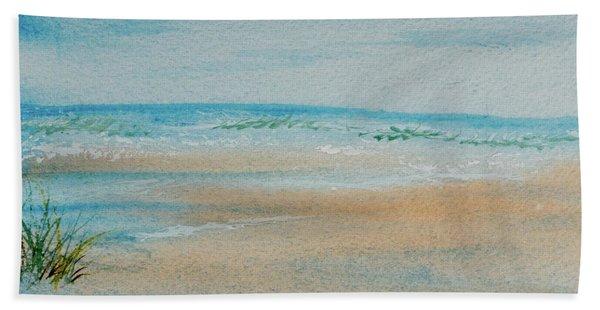 Beach At High Tide Hand Towel