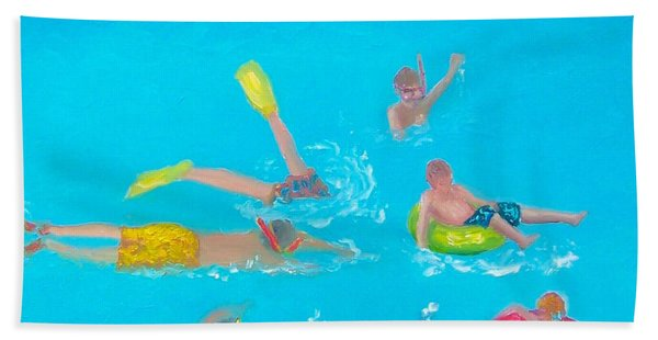 Beach Decor 'holiday Splash' By Jan Matson Hand Towel