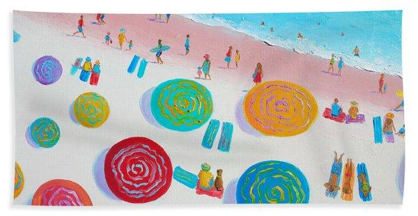 Beach Painting - A Walk In The Sun Hand Towel