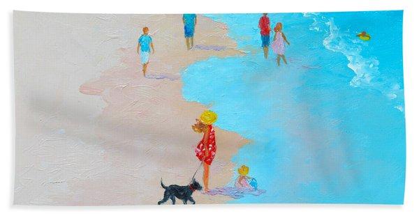 Beach Painting - Beach Day - By Jan Matson Hand Towel