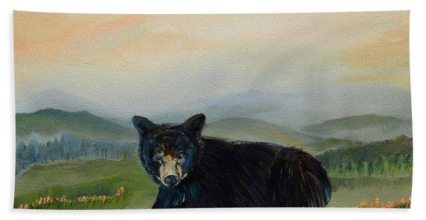 Bear Alone On Blue Ridge Mountain Bath Towel