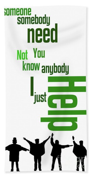 Beatles, Can You Guess The Name Of The Song? Game For Music Fans Hand Towel