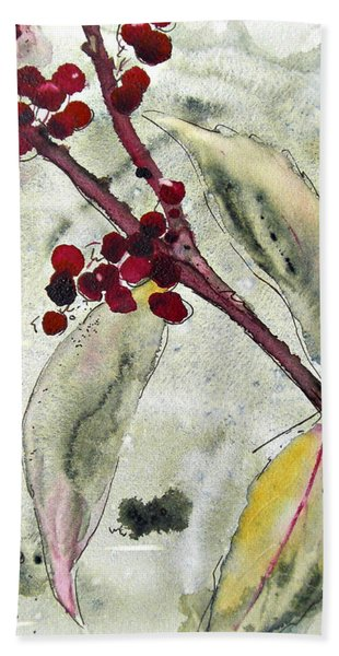 Beauty Berry Branch Hand Towel