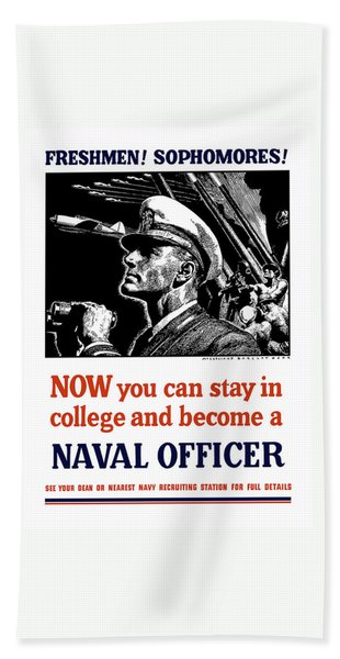 Become A Naval Officer Bath Towel
