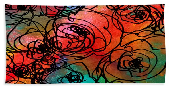 Bed Of Roses Hand Towel