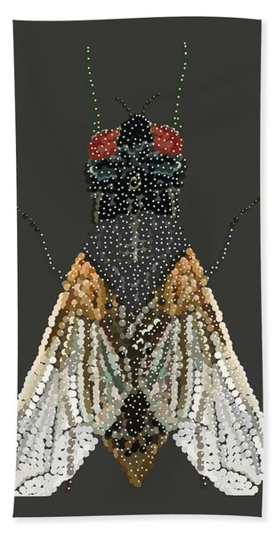 Bedazzled Housefly Transparent Background Hand Towel