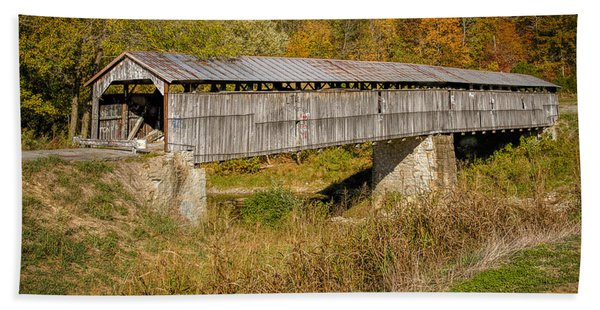Beech Fork Or Mooresville Covered Bridge Bath Towel