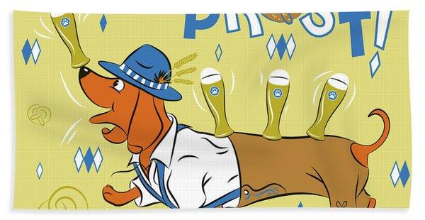 Beer Dachshund Dog Hand Towel