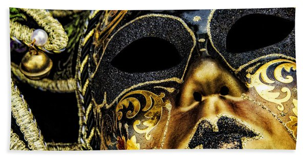 Bath Towel featuring the photograph Behind The Mask by Carolyn Marshall
