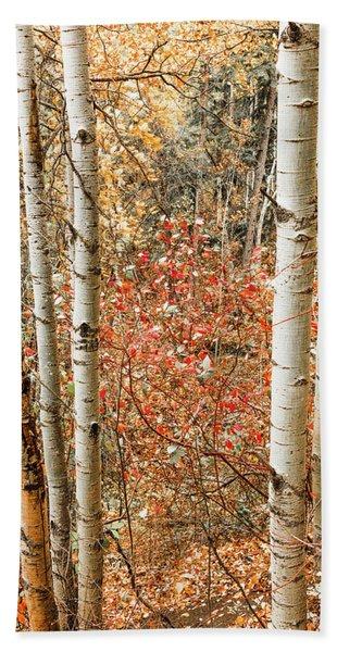 Behind The Trees Bath Towel