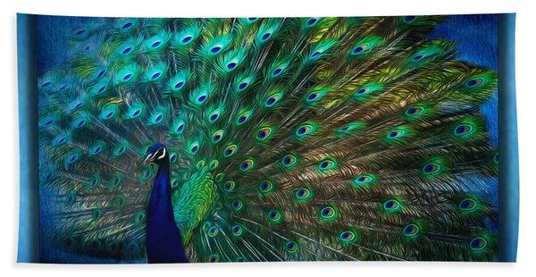 Being Yourself - Peacock Art Hand Towel