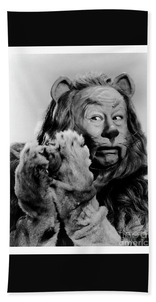 Cowardly Lion In The Wizard Of Oz Hand Towel