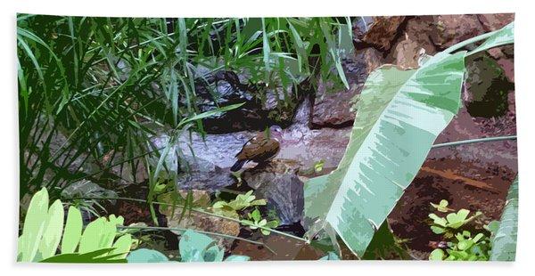 Bird Lagoon Bath Towel