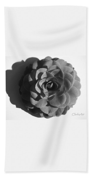 Camellia In Black And White Bath Towel