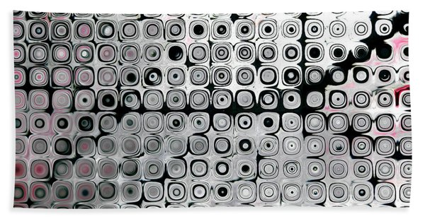 Black And White Circles A Hand Towel