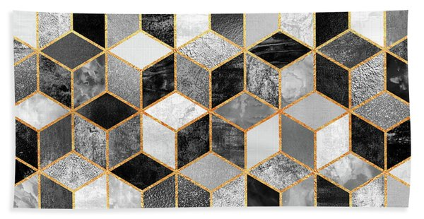 Black And White Cubes Bath Towel