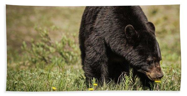 Black Bear Hand Towel
