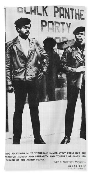 Black Panther Poster, 1968 Bath Towel
