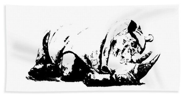Black Rhino Bath Towel