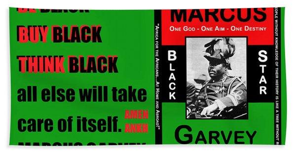 Black Star Garvey Bath Towel