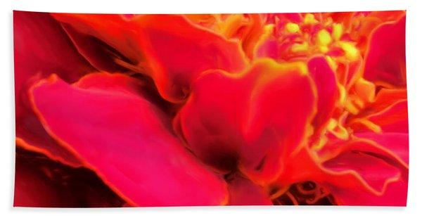 Blazing Pink Marigold Bath Towel