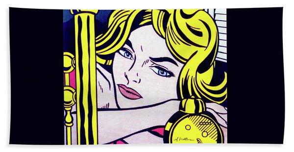 Blonde Waiting -1964 - Pop Art  Bath Towel