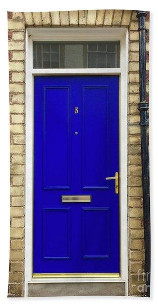 Blue Door Number 3 Hand Towel