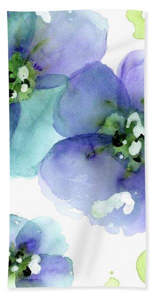 Blue Flowers Hand Towel