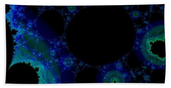 Blue Green Galaxy Fractal Bath Towel