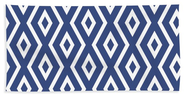 Blue Pattern Bath Towel
