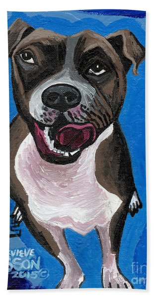 Blue The Pit Bull Terrier Hand Towel