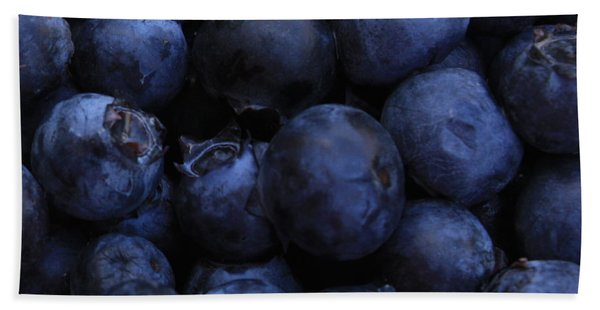 Blueberries Close-up - Horizontal Bath Towel