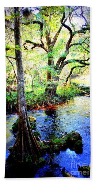 Blues In Florida Swamp Hand Towel