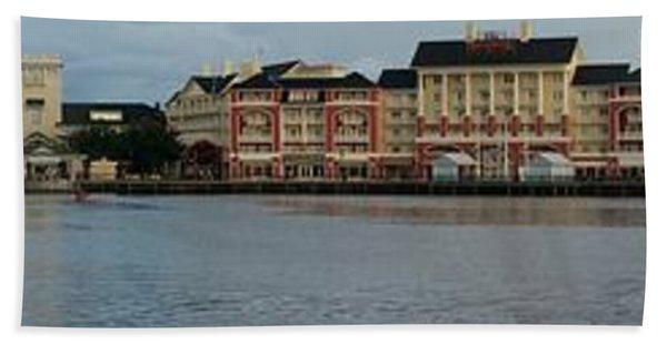 Boardwalk Panorama Walt Disney World Mp Bath Towel