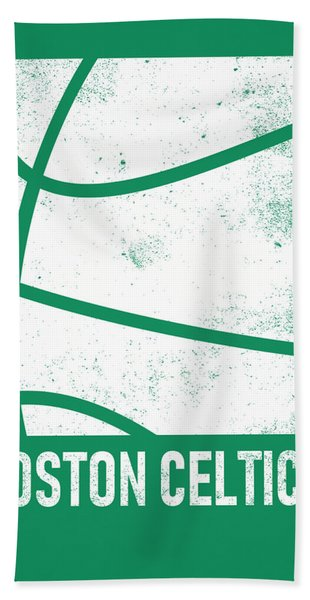 Boston Celtics City Poster Art 2 Hand Towel
