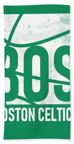 Boston Celtics City Poster Art Hand Towel