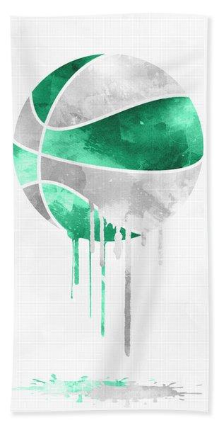 Boston Celtics Dripping Water Colors Pixel Art Hand Towel