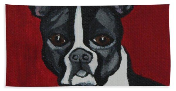 Boston Terrier Bath Towel