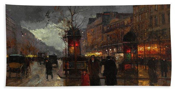 Boulevards Of Paris Bath Towel
