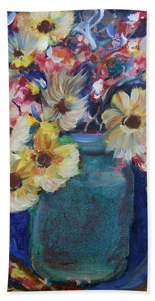 Bouquet Flowers Of Blue  Bath Towel