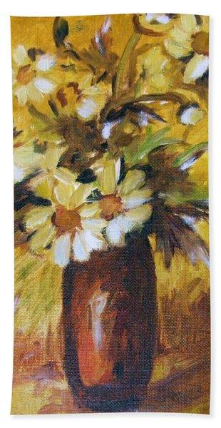 Bouquet Flowers Of Gold Bath Towel