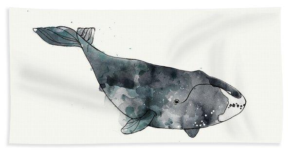 Bowhead Whale From Whales Chart Bath Towel