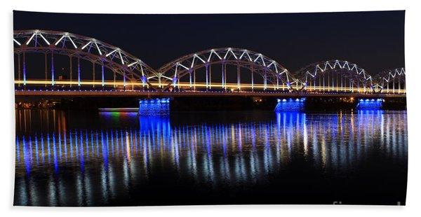 Bridge In Riga  Bath Towel