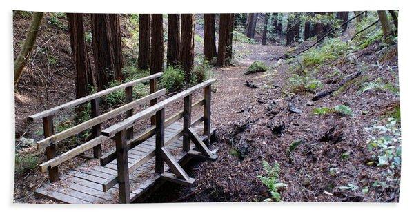 Bridge In The Redwoods Bath Towel