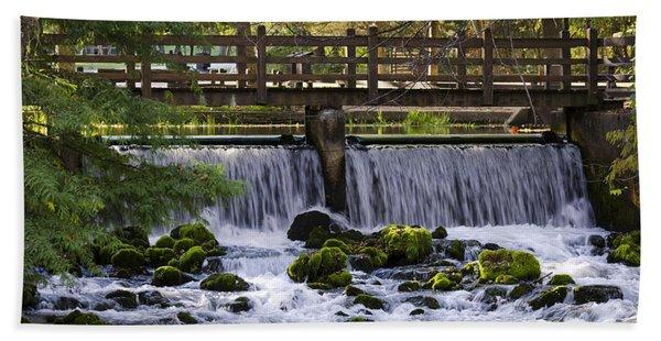 Bridge Over Stream Hand Towel